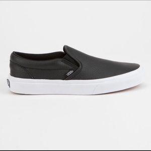 Vans Leather Slip Ons
